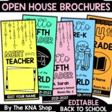 Editable Open House Brochure Meet the Teacher Night Back to School