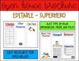 Editable Open House Brochure (Superhero)