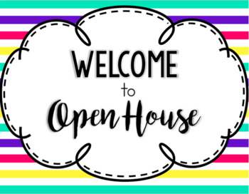 Editable Open House Bundle