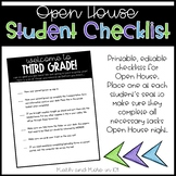 Editable Checklist | Open House | Meet the Teacher