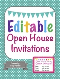 Editable Open House Invitations