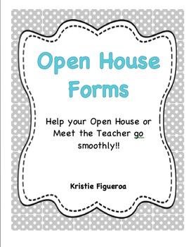 Editable Open House Organization Packet