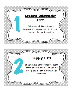 Editable Open House Organization Packet