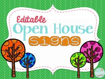 Editable Open House Signs