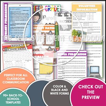 Editable Open House Parent Packet- Fifth Grade