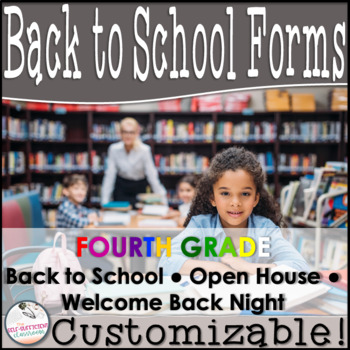 Editable Open House Parent Packet- Fourth Grade