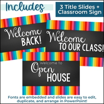 Editable Open House PowerPoint & Forms {Back to School}
