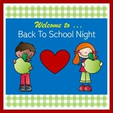 Back to School Night PowerPoint - Editable!