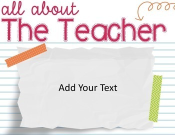 Editable Open House Powerpoint Template - Colorful Washi Theme