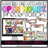 {Editable} Open House Presentation Essentials- Rainbow Chevron Edition