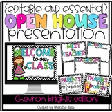 {Editable} Open House Presentation Essentials- Colorful Chevron Version!