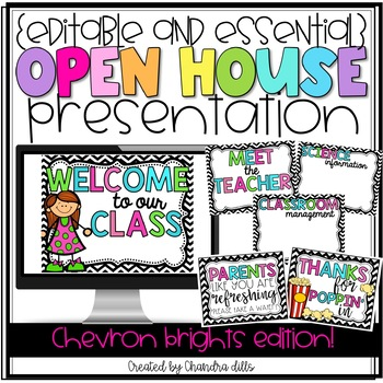 {Editable} Open House Presentation Essentials- Colorful Chevron Version!