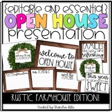 Editable} Open House Presentation Essentials- Rustic Farmhouse Edition