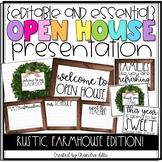 {Editable} Open House Presentation Essentials- Rustic Farmhouse Edition
