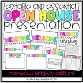 {Editable} Open House Presentation Essentials- Rainbow Brights Edition