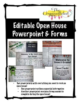 Editable Open House Presentation and Stations