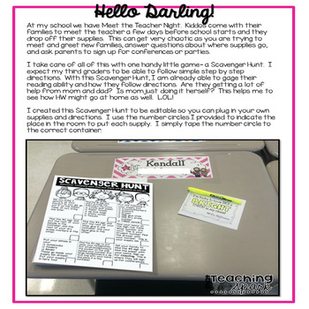 Editable Open House Meet the Teacher Resources for Back to School