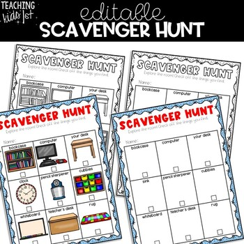 Editable Open House Scavenger Hunt Teaching Resources | Teachers Pay ...