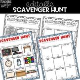 Editable Open House Scavenger Hunt