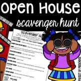 Editable Open House Scavenger Hunt for Little Learners