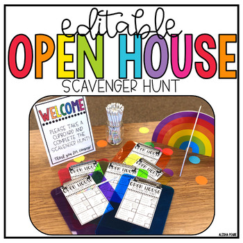 Editable | Open House | Station Signs | Scavenger Hunt