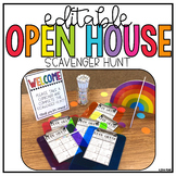 Editable | Open House | Station Signs | Scavenger Hunt