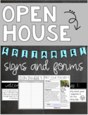 Editable Open House Station Signs and Forms