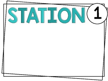 Editable Open House Stations   Teal