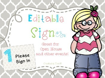 Editable Open House Signs and Event Signs