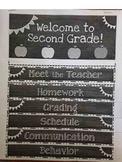 Editable Open House/ meet the Teacher Informational Flip Book!