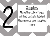 Editable Open House/Parent Night Stations and treat tags