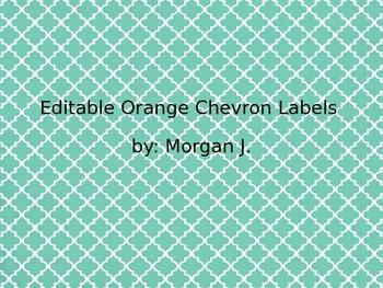 Editable Orange Chevron Labels