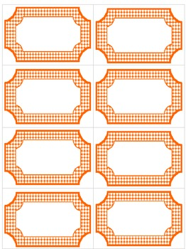 Editable Orange & White Polka Dot Labels