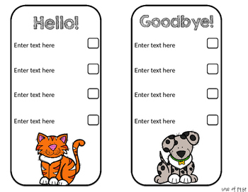 Editable Organization Checklists: Favorite Animals