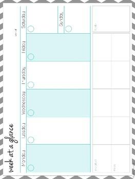 editable organization kit freebie to do list schedule binder