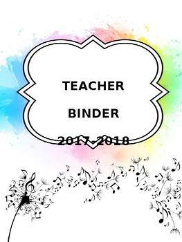 Editable Organizational Teacher Binder