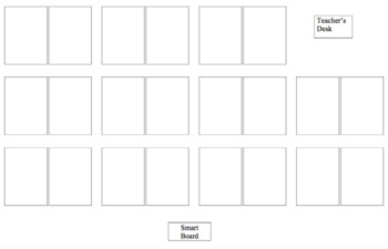Editable, Organized Seating Chart