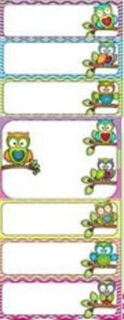 Editable Owl Behavior Chart and Behavior Calendars