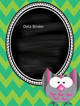 Editable Owl Binder Covers with Chevron Backgrounds