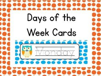 Editable Owl Days of the Week