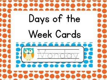 Editable Owl Days of the Week