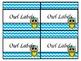 Editable Owl Labels