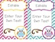 Editable Owl Labels Mega Set