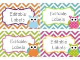 Editable Owl Labels Mega Set