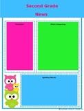 Editable Owl Newsletter