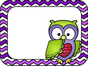 Editable Owl Rules Posters