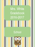 Editable Owl Theme Gradebook