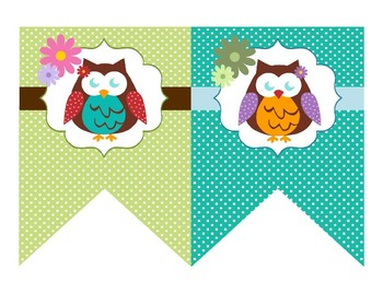 Editable Owl Themed Banner and Posters