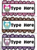Editable Name Tags- Owl Themed Desk Name Tags