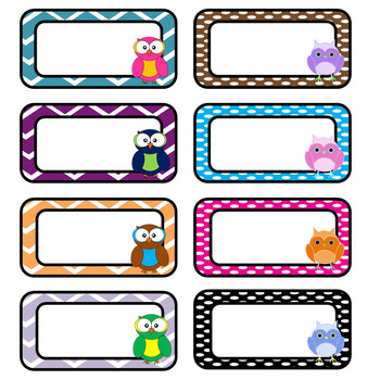 Editable Owl Themed Labels